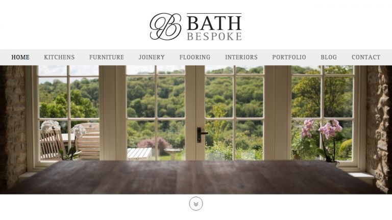 Bath Bespoke Website Homepage Design