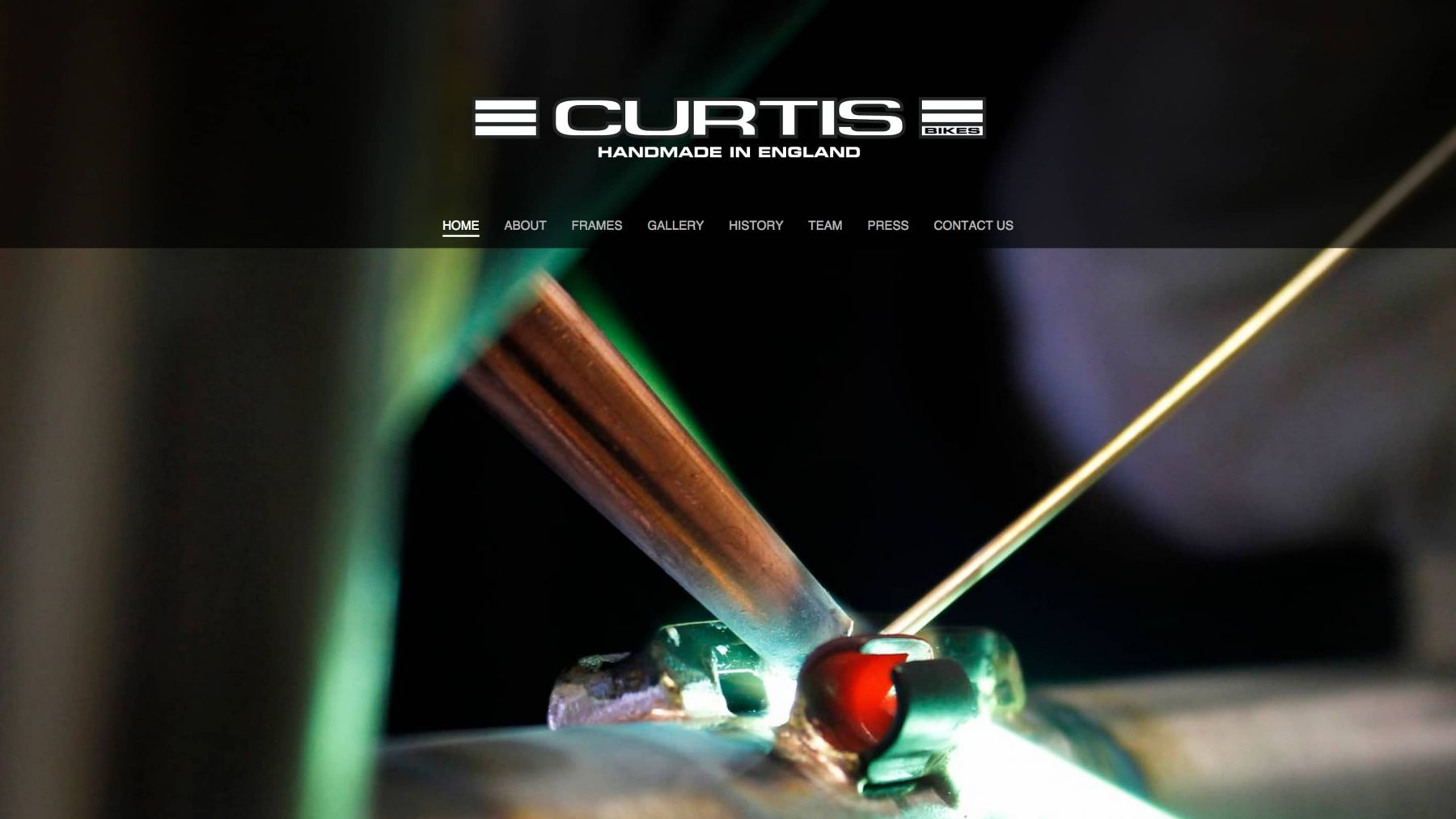 Curtis Bikes website