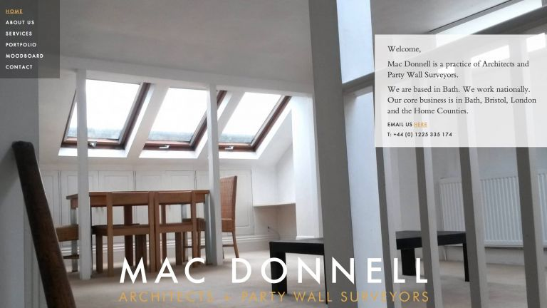 Mac Donnell architects website