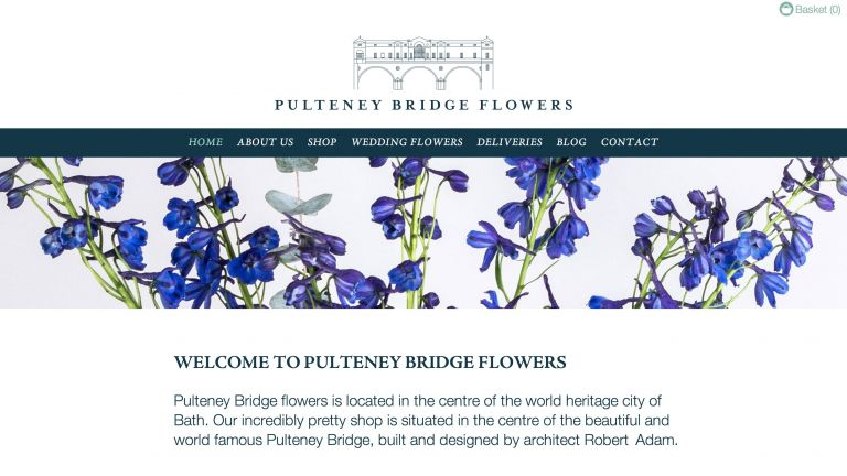 Pulteney Bridge Flowers e-commerce website