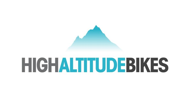 High Altitude Bikes logo design