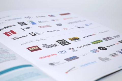 Full colour logos arranged on a white background page.