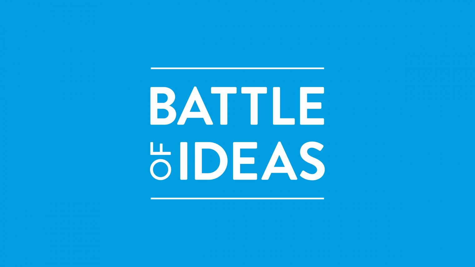 Battle of Ideas logo cyan