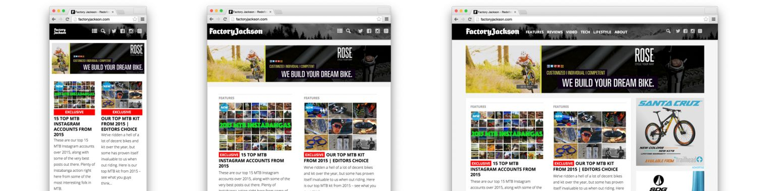 Factory Jackson Responsive layout