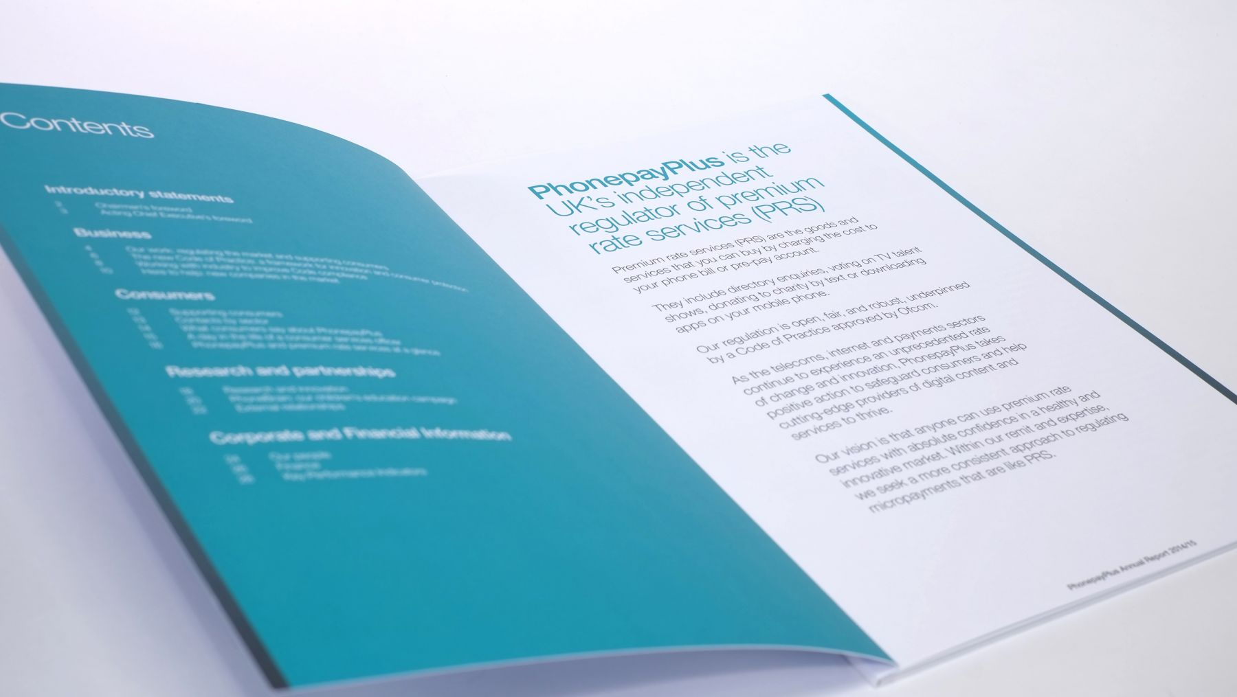 Annual Report contents page